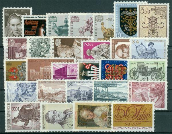Österreich Jahrgang 1971 Michel Nr 1353-1380 Postfrisch Österreich Ab 1945